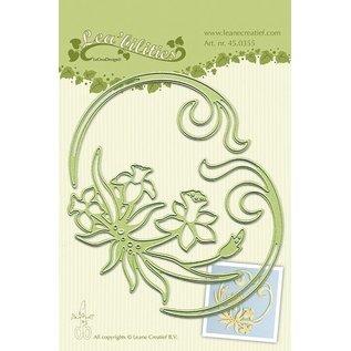 Leane Creatief - Lea'bilities Lea'bilitie® Narcissus & Swirls prægning og skære skabelon