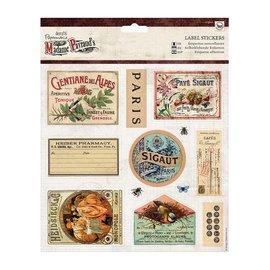 Sticker Feuilles A4 decoupees avec 12 autocollants Étiquette