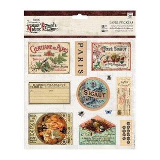Sticker A4 udstanset ark med 12 klistermærker Label