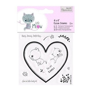 Docrafts / Papermania / Urban Clear stempels, schattig kitten