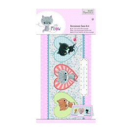Docrafts / Papermania / Urban Decoupage card set, small meow