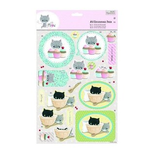 BILDER / PICTURES: Studio Light, Staf Wesenbeek, Willem Haenraets A4 Decoupage Pack - Little Meow - Cakes