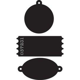 Marianne Design Couper et gaufrer pochoirs, étiquettes, étiquettes