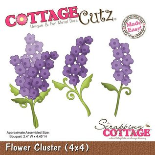 Stempel / Stamp: Transparent Cluster Fleur CottageCutz (de 4x4), fleurs