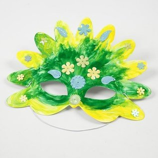 Kinder Bastelsets / Kids Craft Kits Bastelset: 16 Fairy Tale Masks, H: 13.5 to 25 cm, 220 g + Sequin Mix, Size 15-45 mm