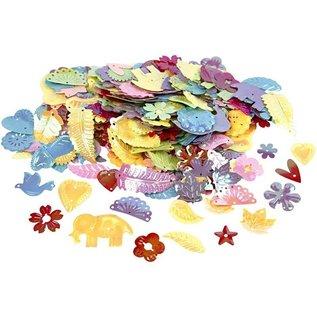 Kinder Bastelsets / Kids Craft Kits Bastelset: 16 Eventyr Masker, H: 13,5-25 cm, 220 g + Paillet Mix, størrelse 15-45 mm
