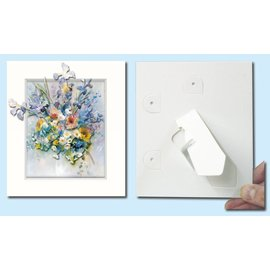 KARTEN und Zubehör / Cards Passepartout f. Les cartes d'art, 3 dans un ensemble