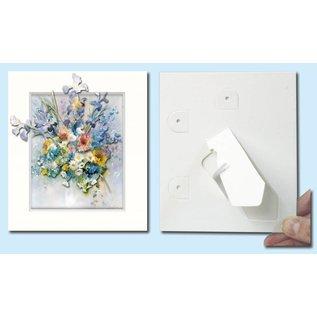 KARTEN und Zubehör / Cards Passepartout f. Kunstkarten, 3 Stück im Set