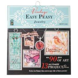 """ModPodge Vintage livro """"Easy Peasy Jóias"""" com muitos motivos de vintage para criar Charms"""
