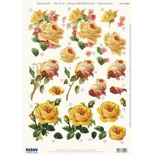 BILDER / PICTURES: Studio Light, Staf Wesenbeek, Willem Haenraets 3D stansvel gele rozen, A4