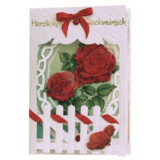 BASTELSETS / CRAFT KITS Bastelset: Fence kort Roses