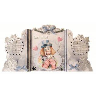 BASTELSETS / CRAFT KITS Bastelset: Paravantkarten mit Clowns