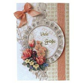 BASTELSETS / CRAFT KITS Bastelset: Cartão floral no estilo retro