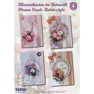 BASTELSETS / CRAFT KITS Bastelset: Blumenkarten im Retrostil