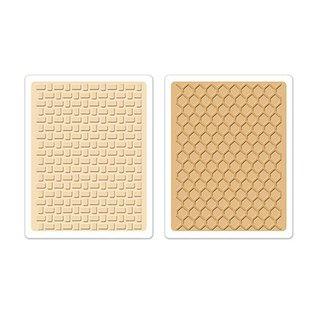 Sizzix 2 Prägefolder, Textured Impressions