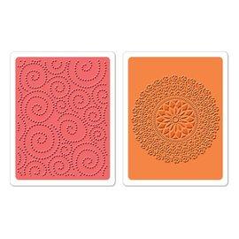 Sizzix 2 embossing folders, Dot Swirl & Me