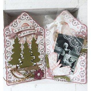 Marianne Design Marianne Design, presning og prægning stencil, Tiny s Vintage Labels