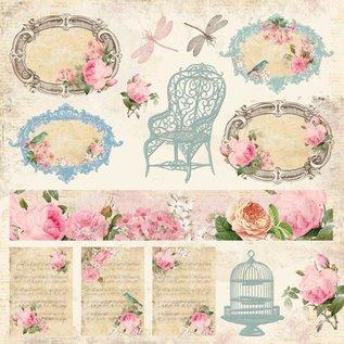 Designer Papier Scrapbooking: 30,5 x 30,5 cm Papier Vintage Tijd, ontwerper papier, 30,5 x 30,5 cm