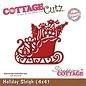 Cottage Cutz Stanz- und Prägeschablone,Weihnachtsschlitten Motiv Größe: 9,1 x 7,6 cm