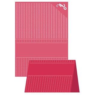 embossing Präge Folder A4 Embossing Folder, Craft Well - Prikket Elegance