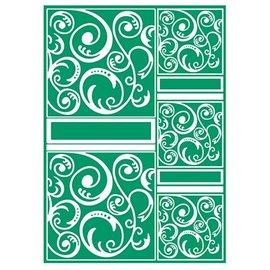 embossing Präge Folder A4 Embossing Folder, Artigianato A4 Well - Swirltangle
