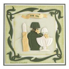Leane Creatief - Lea'bilities Lea'bilities, reliëf en snijden template, Elegant Frame