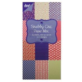 Joy!Crafts / Hobby Solutions Dies Paper bloc, 15x30cm - Shabby Chic (blau)