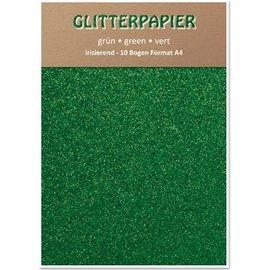 DESIGNER BLÖCKE / DESIGNER PAPER Glitter iridescent paper, A4, 150 g / m², green