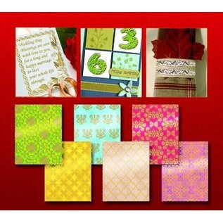 Sticker Scrapbook Hintergrund Sticker sehr detailliert geprägt in silber oder gold