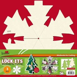 3 mini scrapbog bog i form af et juletræ, jul klokke og christmas ball!
