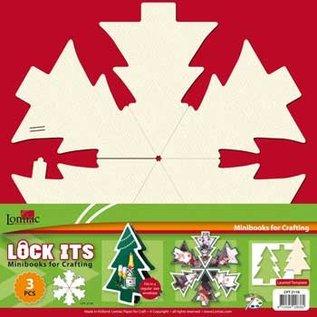 3 Mini Scrapbook Buch im Form von ein Weihnachtsbaum, Weihnachtsglocke oder Weihnachtskugel!