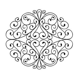CREATIVE EXPRESSIONS und COUTURE CREATIONS Gummistempel, frimærker at dø for - Smedejern Swirls