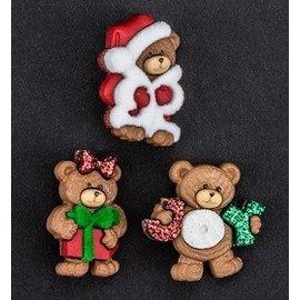 Embellishments / Verzierungen Dress it Up, Verzierungen, Charms, Add-ies - Weihnachtsbärchen