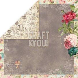 """Designer Papier Scrapbooking: 30,5 x 30,5 cm Papier Designer Paper """"Tea Time"""", de 30,5 x 30,5 cm"""