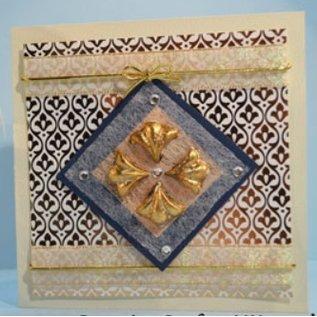 DCWV und Sugar Plum DCWV Designersblock, 24 ark 15.2 x 15.2 cm dekoreret med folie.