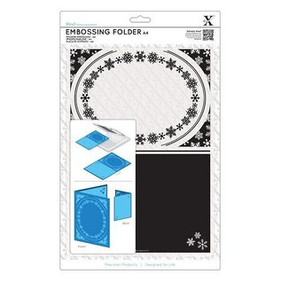 Docrafts / X-Cut A4 Embossing Stencil - frame, Snowflake