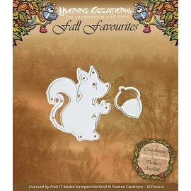 Yvonne Creations Yvonne Creations, stampaggio e goffratura stencil, scoiattoli