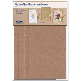 KARTEN und Zubehör / Cards kit material para seleção do cartão livro 3 presente no branco, luz ou marrom escuro!
