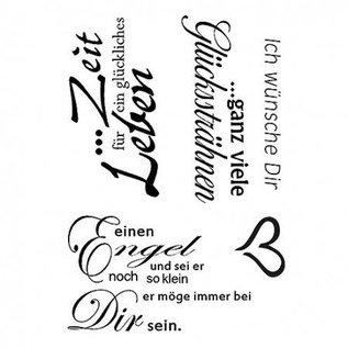Stempel / Stamp: Transparent Stempel Clear,Ich wünsche Dir, 5 - teilig, transparent