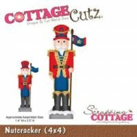 Stempel / Stamp: Transparent CottageCutz Nøddeknækkeren (4x4), Nøddeknækkeren