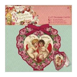 KARTEN und Zubehör / Cards 6 x 6 Decoupage Cartão Kit - Valentine Victorian