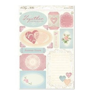 Embellishments / Verzierungen A4 Toppers die-cut - Notes Vintage - Icônes
