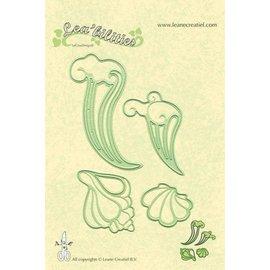 Leane Creatief - Lea'bilities Lea'bilities, estampación y corte de la plantilla, Shell y las ondas