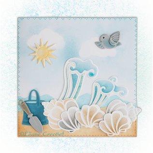 Leane Creatief - Lea'bilities Lea'bilities, prægning og udskæring skabelon, Shell og bølger