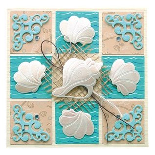 Leane Creatief - Lea'bilities Lea'bilities, embossing and cutting template, shell and waves