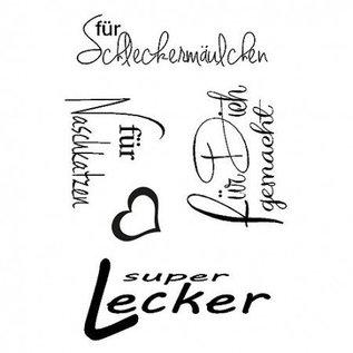 Stempel / Stamp: Transparent Transparent Stempel, super lecker, A7, 5 - teilig