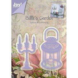Joy!Crafts / Jeanine´s Art, Hobby Solutions Dies /  Gaufrage et tapis de coupe, bougeoirs et lampe