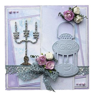 Joy!Crafts / Jeanine´s Art, Hobby Solutions Dies /  Embossing and cutting mat, candle holders and lamp