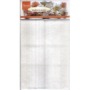 Marianne Design Mulberry papir hvid, 5 x A5 ark