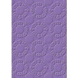 embossing Präge Folder Pastas de gravação, círculos ornamentado, A6, 14,8 x 10,5 centímetros